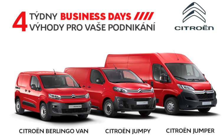 Startují Citroën BUSINESS DAYS - fleety nakupují se slevou až 366700 Kč!